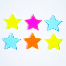 Laser Cut Acrylic Star Charms, Custom Acrylic Star Charms Wholesale