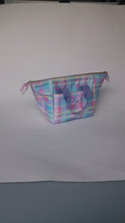 600D polyester colorful cosmetic bag with tote ,large capacity cismetic bag