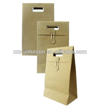 factory wholesale hand made kraft paper envelope with string