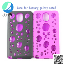 New hot sale water bubble cell phone case for Samsung Note 3 cute case
