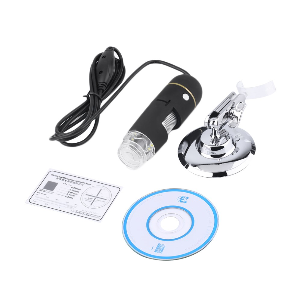 50X-500X 2MP USB 8 LEDs Digital Microscope CMOS Sensor Endoscope HD Camera Magnifier 30fps with Measurement Software Wholesale