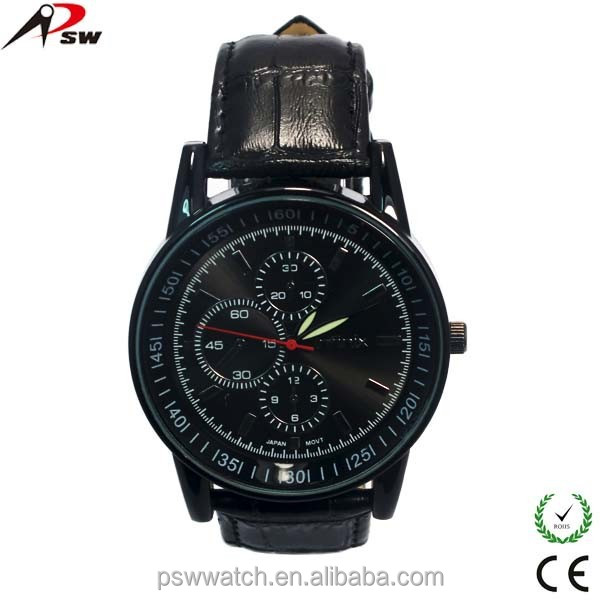 2015 new product genuine leather watch,PU leather watch,gift watch men