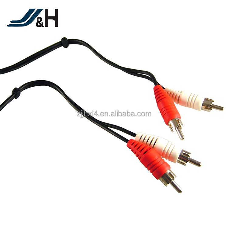 RCA cable for audio adapter male to male with gold connector,cable vga rca casero