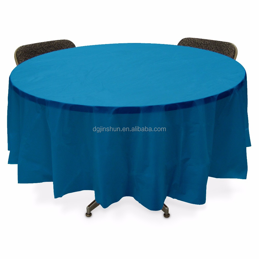 Plastic Table Cover Round -Turquoise
