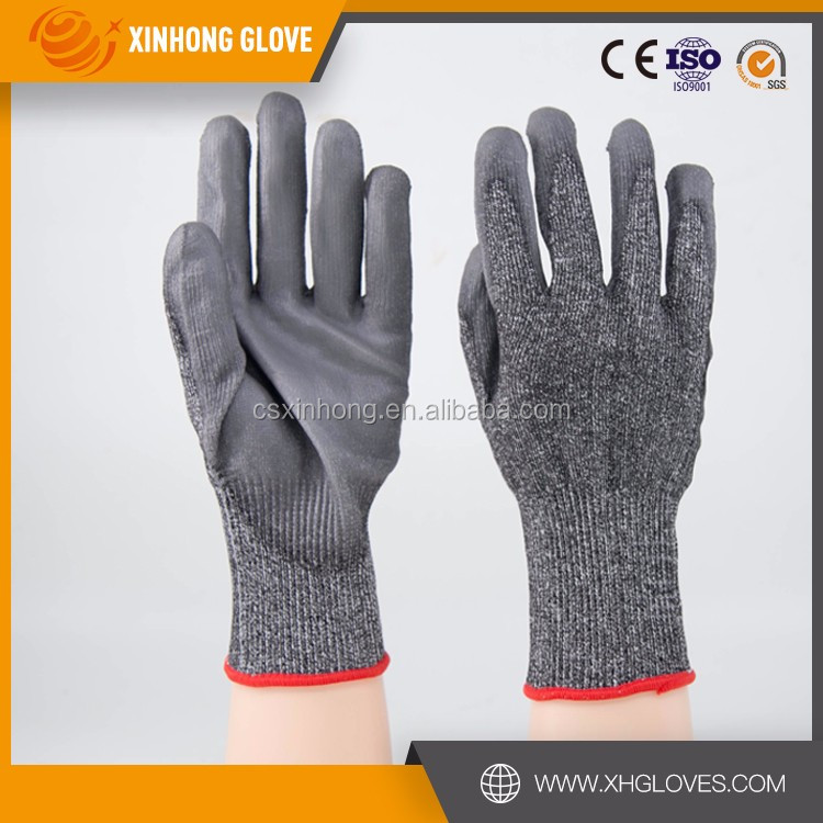 13GG Cut Resistant Gloves Level 5 Protection Buffalo leather work gloves