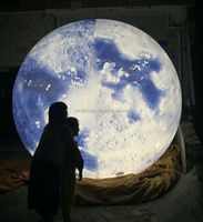 giant 2m inflatable led lighted lunar ball moon balloon