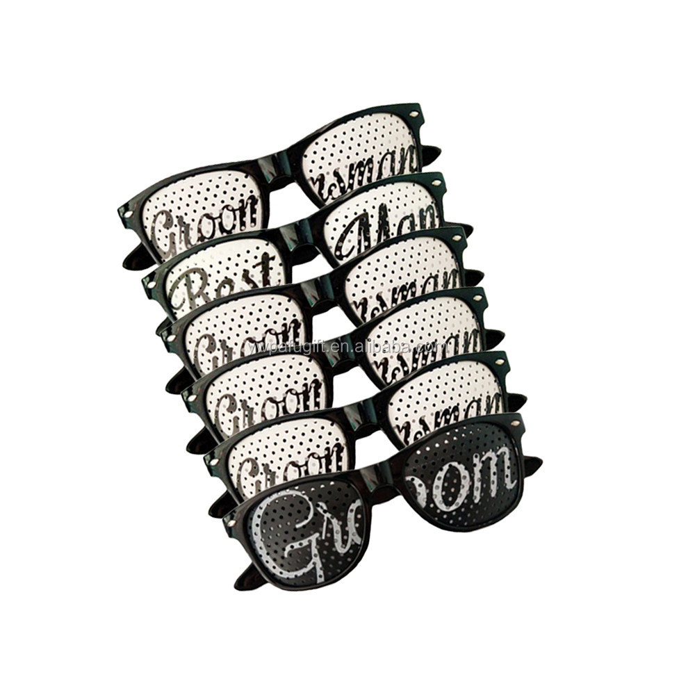 wedding party favor sunglasses 6 pairs of groom novelty glasses