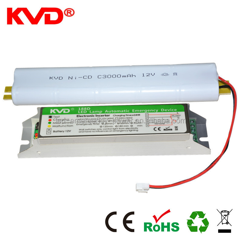 ce certificate KVD188M LED emergency power supply / led tube emergency light LED cleaning light emergency power