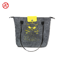2016 Alibaba new products felt women tote bag , shoulder bag with laser cut flower pattern