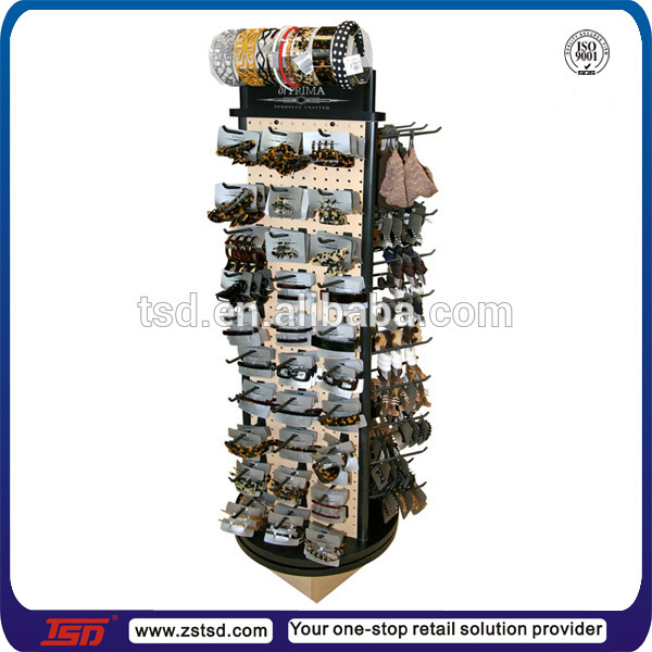 TSD-W214 Custom free standing wood boutique display shelf/Headdress display rack/rotating hanging display stand