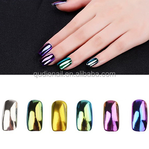 chrome powder nail, mirror effect magic nail pigment powder