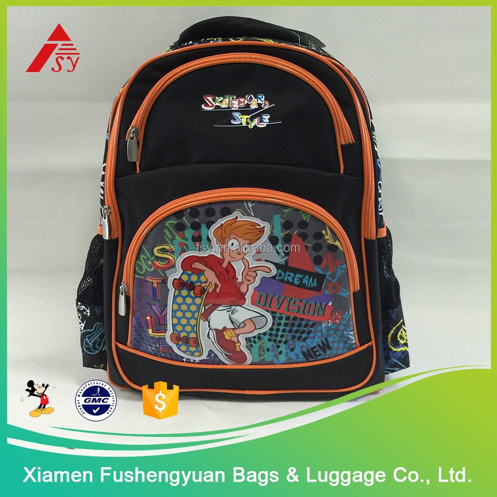durable big capacity school bag for children , boy sport backpack , boys school bags