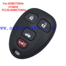 car key 3+1button 315mhz FCCID:KOBGT004A for chevrolet remote key