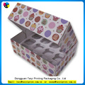 Recycle promotional environmental jumbo cupcake boxes