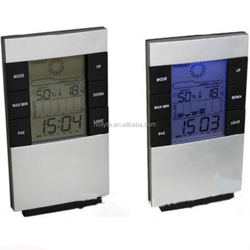 table clock with calendar /talking alarm clock/ weather forecast clock