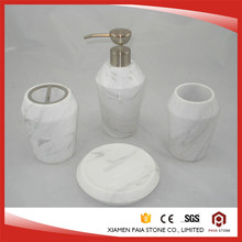 Wholesale Round Shell White Marble Bathroom Accessory Soap Dish