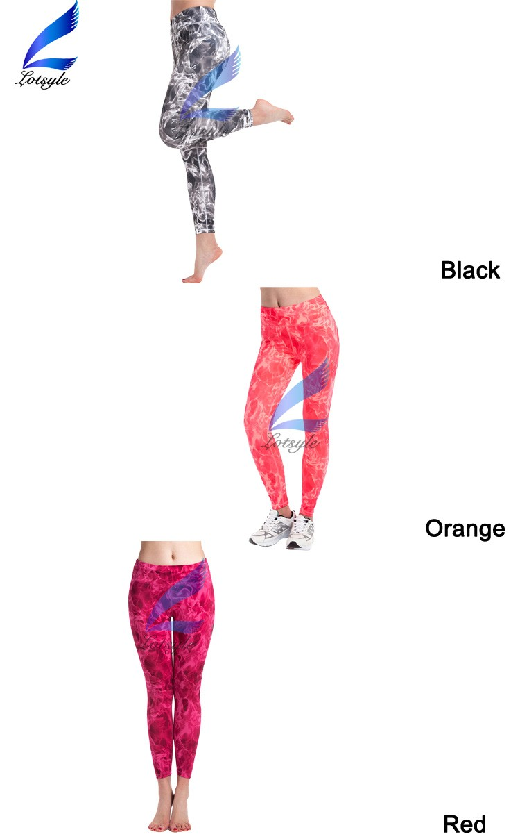 Printed Sport Trousers Women Fitness Tights Flex Leggings