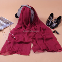 Wholesale Islamic Dubai Hijab solid color thin chiffon scarves and shawls