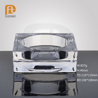 PFT Promotional Clear Transparent Crystal Square Glass Ashtray