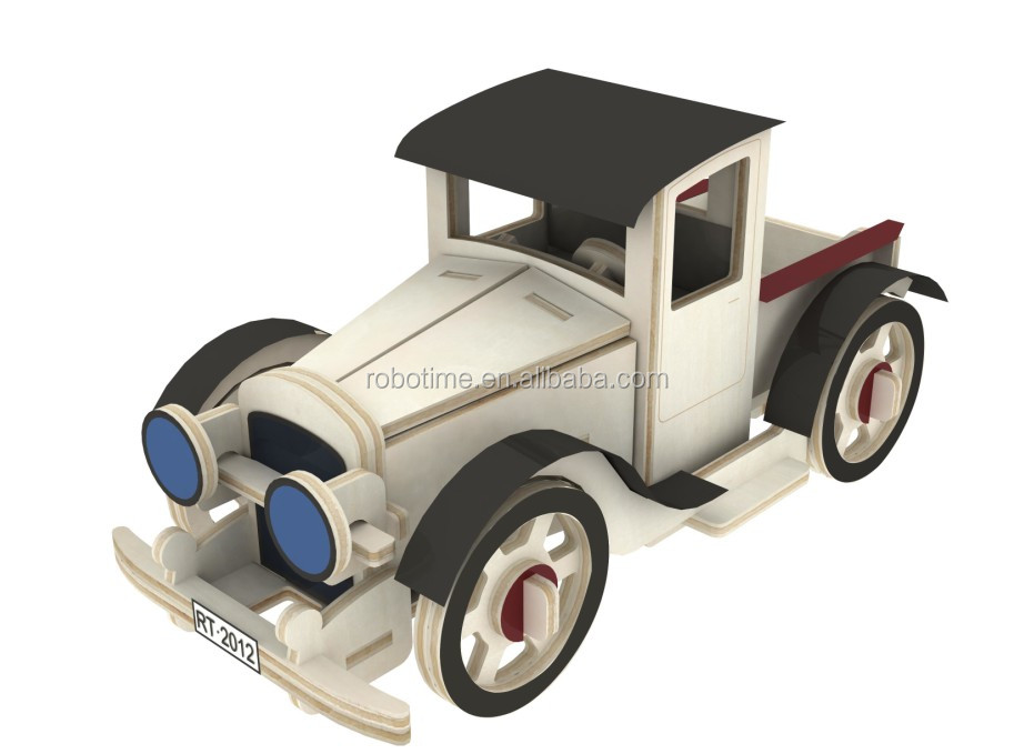Classic car wooden model