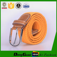 Factory Fashion 35mm jean woven women sport braided adjustable elastic belt