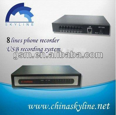 voice recorder box with 8line,recording all incoming and outgoing call/1080p vehicle car camera dvr video recorder