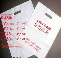 Accept customized plastic shopping bag with handle made in Shanghai