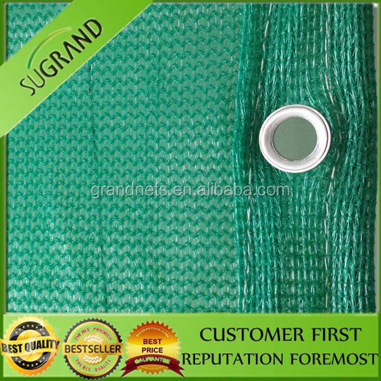 100% virgin HDPE green horizontal safety net/Dust and debris control net
