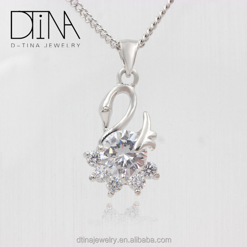 Special design swan shape pendant jewelry