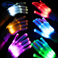 10pairs per box packing wholesale stage dance colorful shine LED gloves