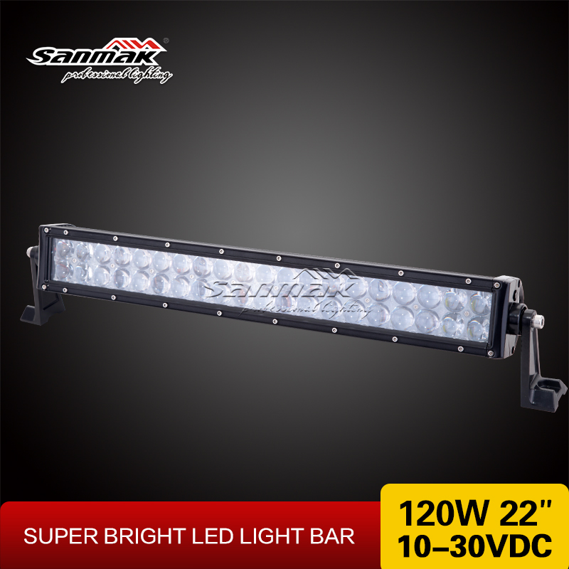 Car Accesories 2016 Double Row 120 watt LED Bar 22 5D Barras LED 4x4 Off Road 120w LED Light Bar