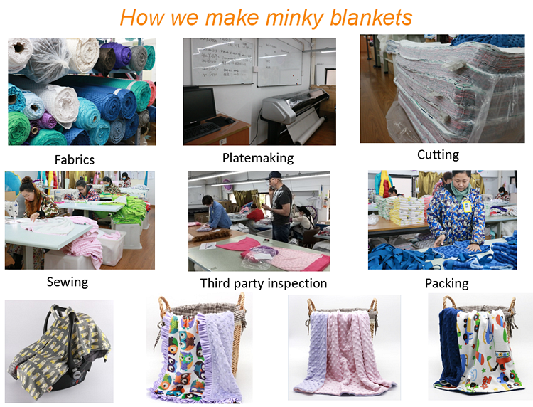 High quality super soft minky baby bath hooded towel blanket