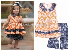 2017 Wholesale Summer Teen Girl Clothing Set Kids Cotton Frocks Design Kid Clothes