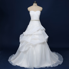 Elegent Organza Wedding dresses Pleat top Ball Gown wedding dresses WD012
