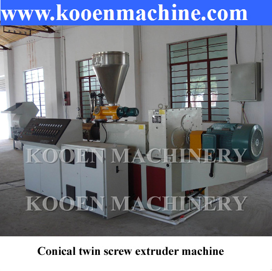 High quality plastic PVC conical twin screw extrudering