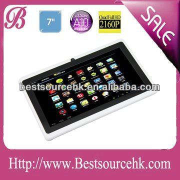 7 inch a10 tablet PC android 4.03 Allwinner A10 1.5G,cortex A8,DDR3 512M,4G,wifi,HDMI,dual camera,5 points G+G touch screen,