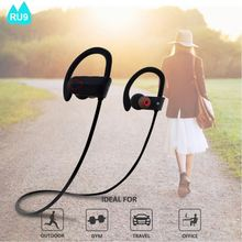Popular RU9 Wireless Sport Earphone Foldable Style Bluetooth V4.1EDR Noise Canceling Headset for Smartphone Tablet PC