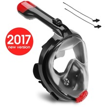 New Original Second Generation 180 degree view Panoramic full face Snorkel Mask,with anti-fog anti-leak snorkeling Design