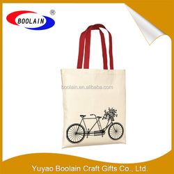 China factory wholesale plain cotton tote bag from alibaba trusted suppliers