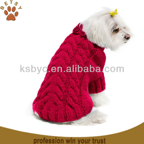 Free Knitting Pattern For Dog Jersey Holiday Dog Sweater Red Heart