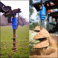 Earth auger hydraulic tree planting hole digger
