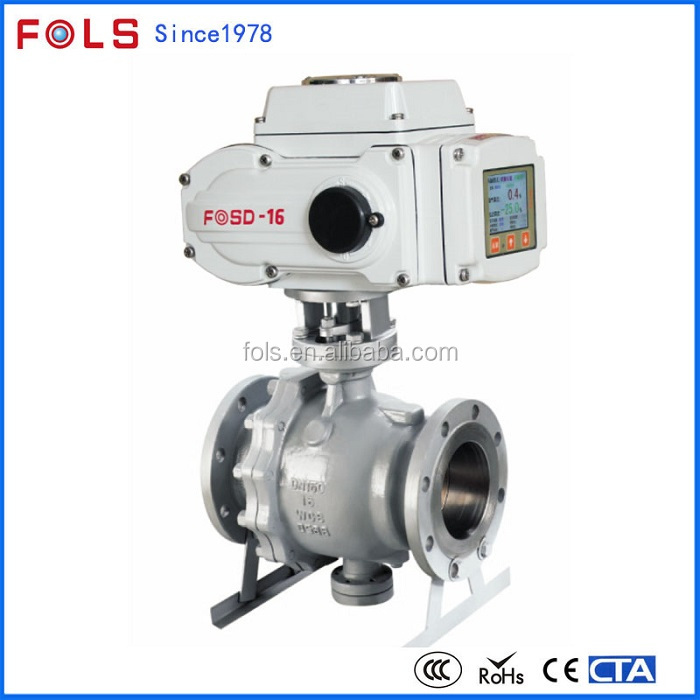 Hot sale flange type stainless steel electric trunnion mounted ball valve