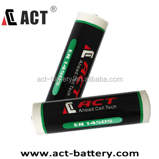 ACT ER14505M ER14505 AA 2700mAh 3.6V lisicl2 battery for electricity meter, water meter, gas meter, flow meter