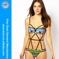 Domi SW1098 one piece letter print caged cut out swimsuit full sex image/naked women nude/full size sexy photo