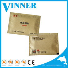 Customized single pack biodegradable restaurant wipes/individual single restaurant wet wipes 100% cotton