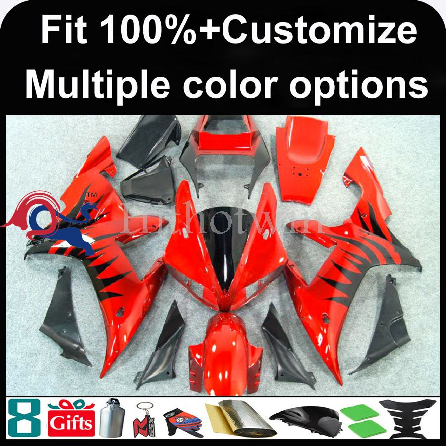 INJECTION MOLDING panels For yamaha 2002 2003 YZFR1 red and black flames YZF-<strong>R1</strong> 2003 2002 YZF <strong>R1</strong> <strong>02</strong> <strong>03</strong> 2002 2003 <strong>R1</strong> Bodywork Fai