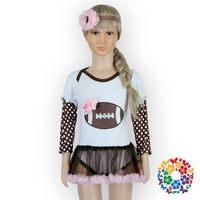 Baby Girl Rompers Football Pattern Custom Print Newborn Cotton Fabric Bodysuit Long Sleeve Winter 2 Year Old Baby Tutu Rompers