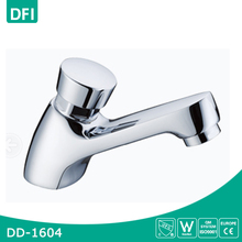 Deck mounted chrome brass push down faucet tap