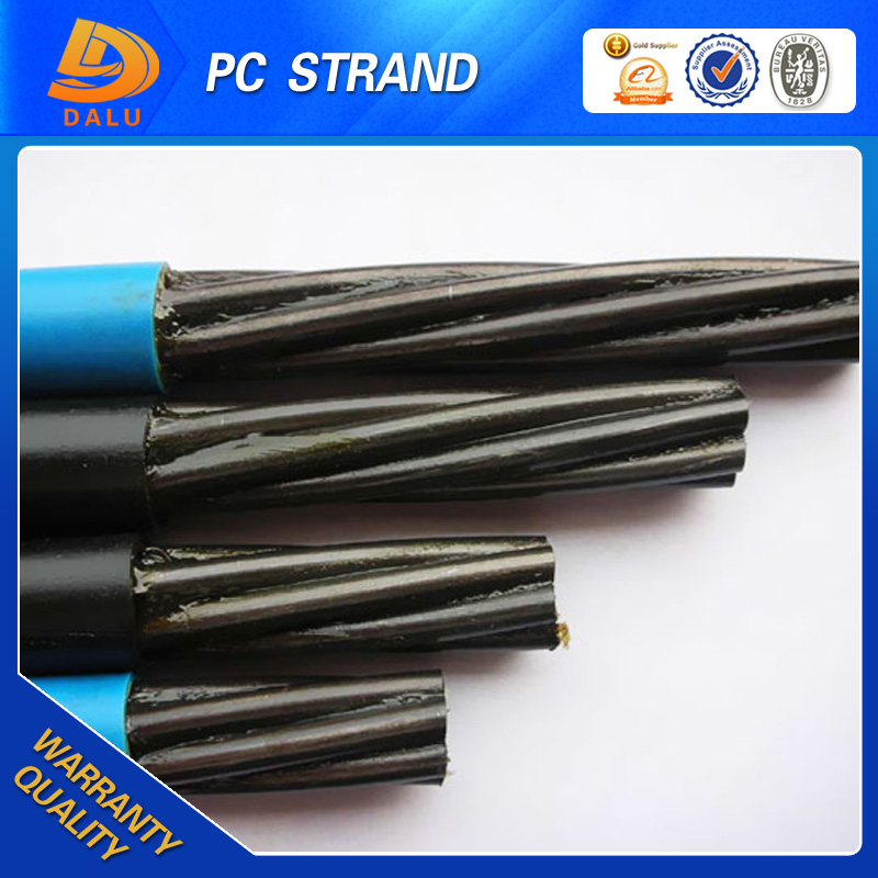 Blue Coated Unbonded PC Strand 7 Wire for rope