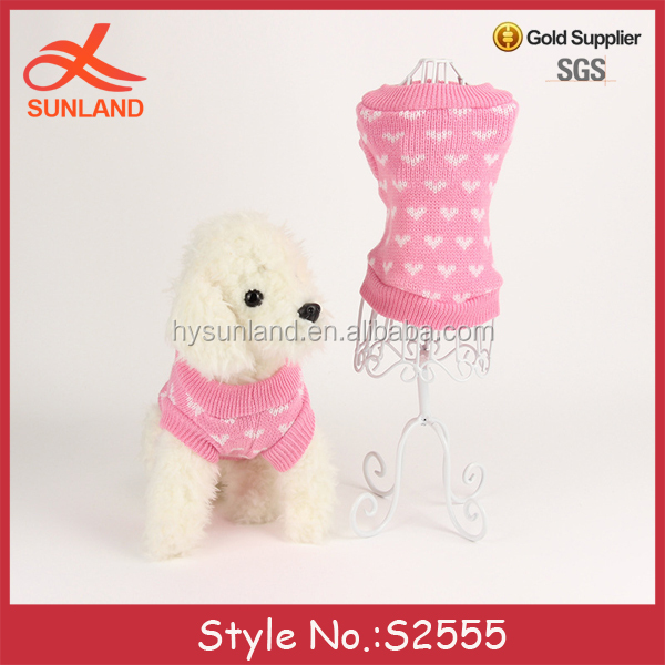 S2555 fashion pet clothes pink dog sweaters simply she dog clothes for sale